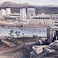 Egypte - Une croisière sur le Nil (11/19). Soirée sons et lumières à <b>Philae</b>.