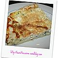 Tarte aux courgettes et fromage fines herbes
