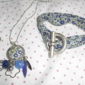 Sautoir et bracelet bleu