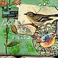 Art journal - 'peace and freedom'
