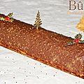 Bûche chocolat blanc - <b>praliné</b>