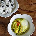 Riz accompagné kimchi curcuma