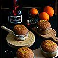 Petits cakes a l'orange façon baba au grand marnier
