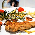 Escalopes de <b>pintade</b> de ferme, marinée à la sauce soja/huile d'olive