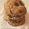 ..cookies au beurre d'amandes (sans gluten)..