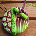 Donut vert/prune