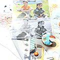 Page pour scrapbooking day chez jas'piration et premier art journal