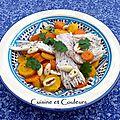 Tajine de raie aux carottes