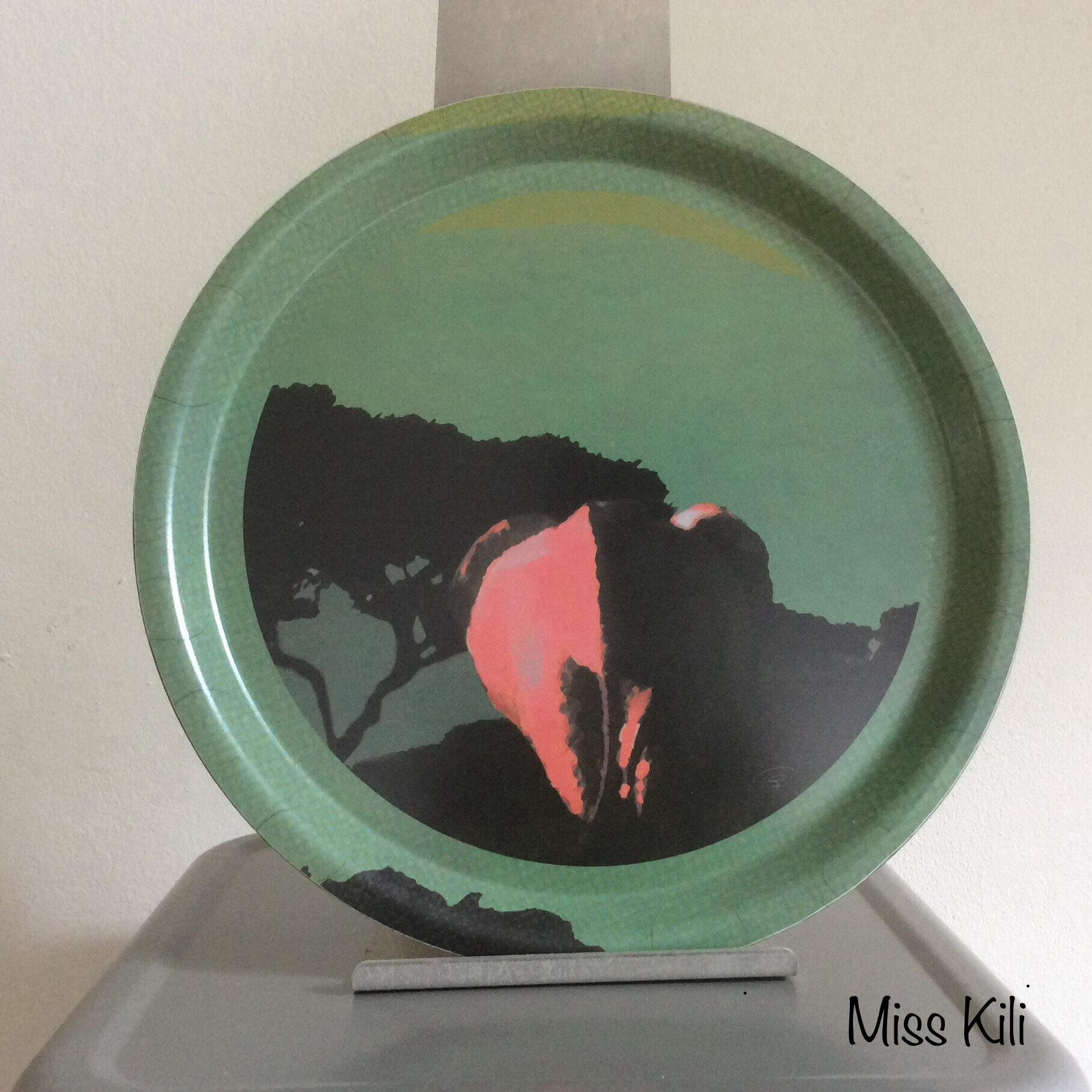 plateau miss Kili, diam 29,5 cm