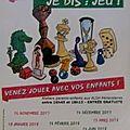 MAifestation ALAE Alphonse Daudet - Les <b>Jeudis</b> Je Dis : Jeu ! De Novembre 2017 à Juin 2018