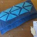 Une pochette et sa bouillotte sèche inspirée du dernier chouette kit :