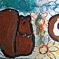 Ecureuil peinture enfant peinture gouache