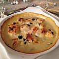 Cassolette de saint-jacques à la sauce vin blanc