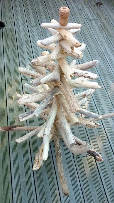 Sapin en bois flotté - Le blog d\'Aventurine
