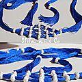 Ceinture caftan souple bleu roi