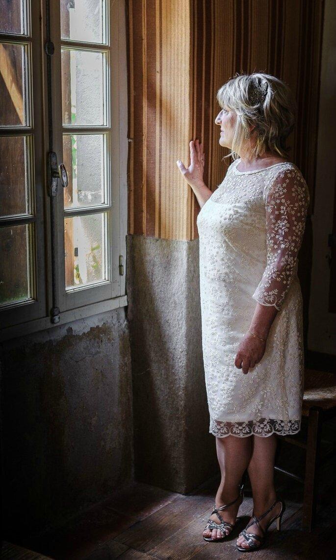 Robe de Mariée en dentelle portée