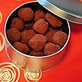 Truffes aux amandes et truffes au caramel épicé