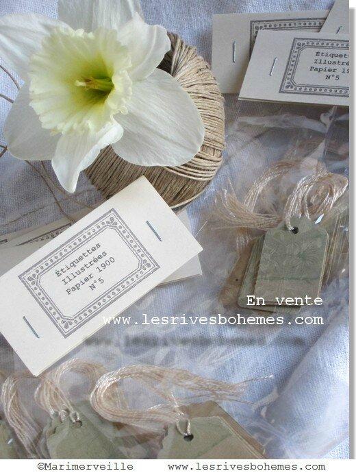 Marimerveille collection jardin intérieur étiquettes N°5