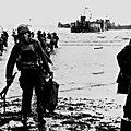1944 - LA 4ème DIVISION D'INFANTERIE AMERICAINE DEBARQUE A UTAH BEACH