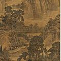 <b>Wang</b> <b>Hui</b> (1632-1717, Scroll 'Rolling Landscape', China