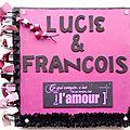 Livre d'or de mariage françois & lucie