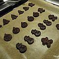 Biscuits chocolat-cannelle de noël!