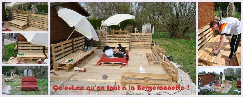Construction d 39 une terrasse en palettes et en planches for Terrasse avec palettes bois