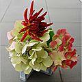 Mini vase et fleurs glanees