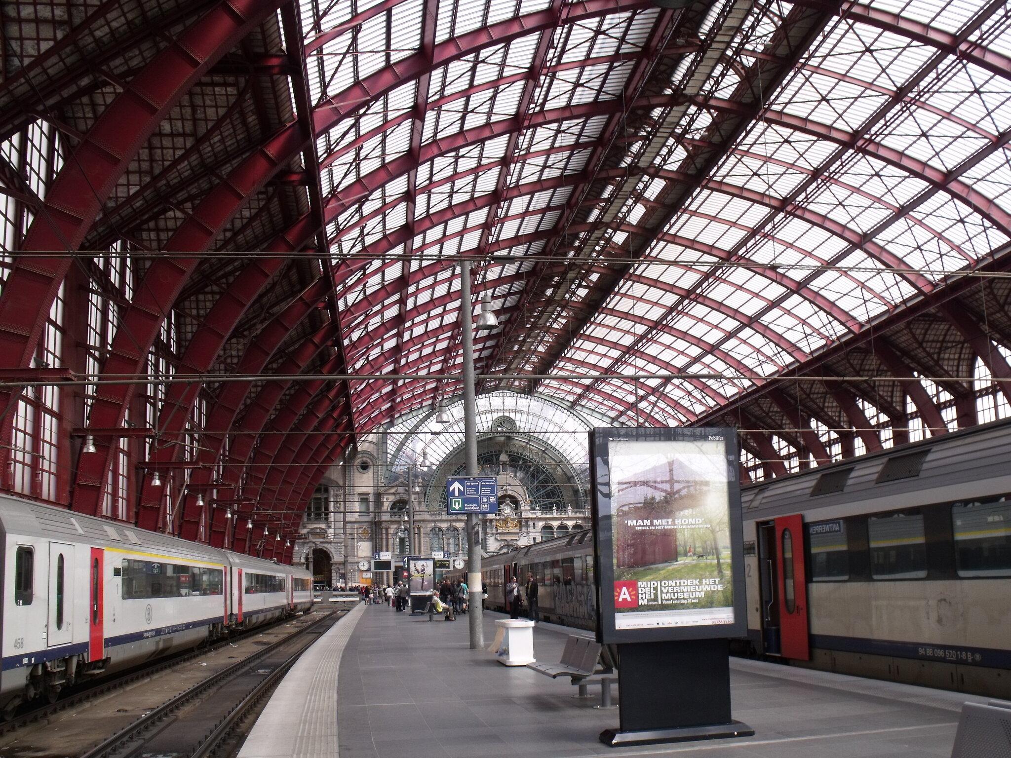 Anvers Central (Belgique) quais