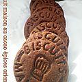 Biscuit maison au cacao épices orientales