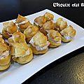 Tartelette au thon ou choux au thon