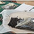 Miel vert (fin), ferme du pêché gourmand et soucoupe volante - couleurs des fleurs - mousse à la vanille