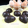 Œufs en chocolat fourrés de ganache caramel