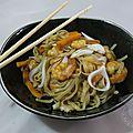 Yaki udon aux crevettes