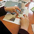 Atelier cartes de voeux créa'récup