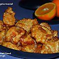 Poulet croustillant à l'orange