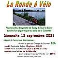 Ronde à Vélo le dimanche 12 septembre 2021