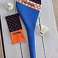 Housse de raquette de badminton personnaliséée et housse de boite de volants EWENN