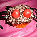 Cupcakes araignée ( pour halloween )