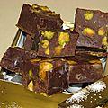 Calendrier de l'avent gourmand # 22 : fudge au chocolat noir, pistaches et fève tonka