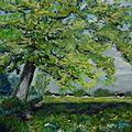 0112 l'arbre pastel card30x40