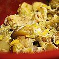 Potée de pommes de terre, poireaux et boursin