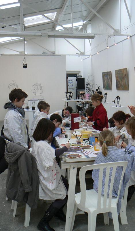 photo atelier peinture à l'oeuf