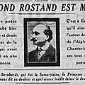 grand-père et les cousins rapatriés - Déraillement d'un train à Marmagne - Mort d'Edmond Rostand