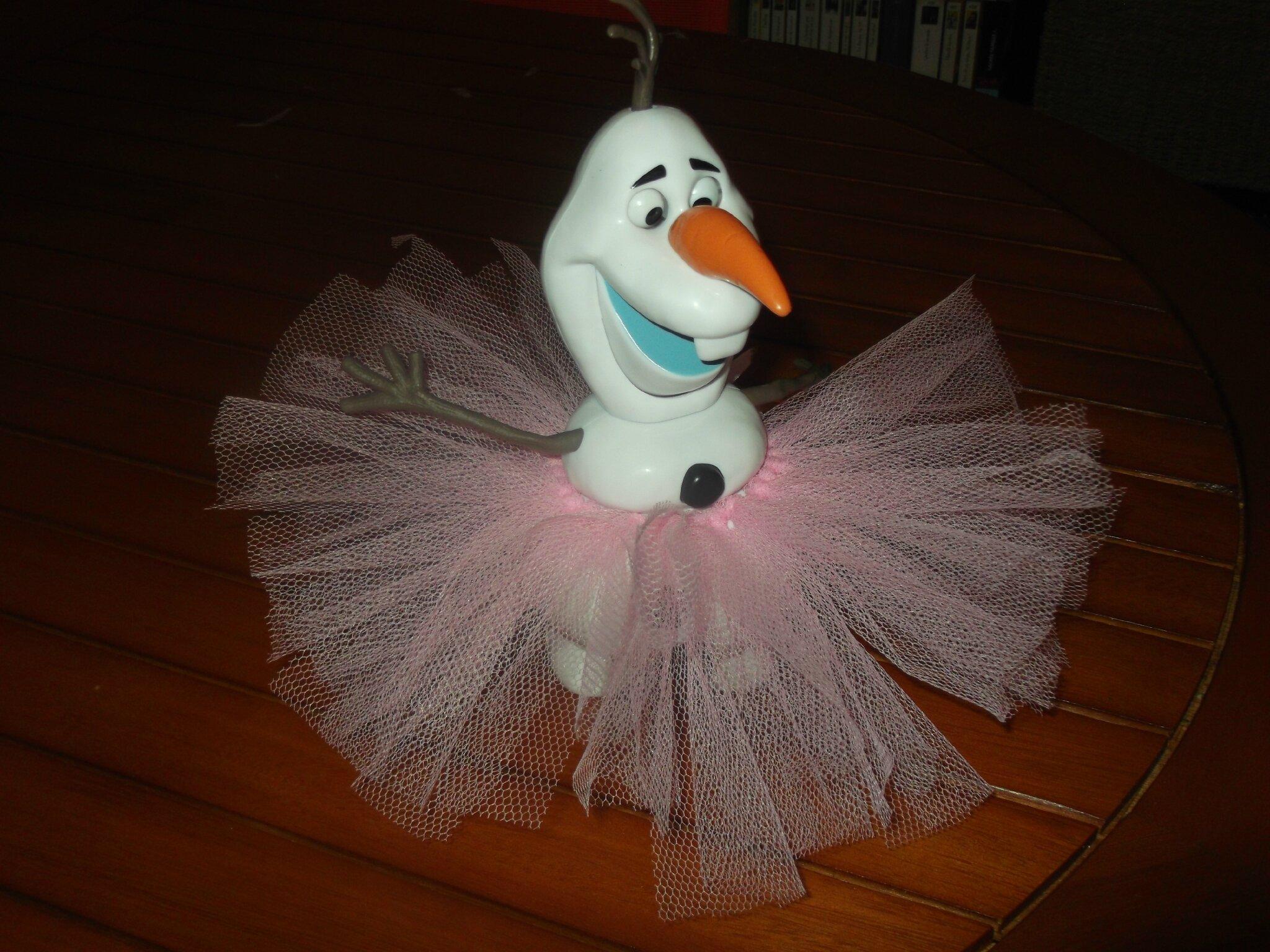 Un Olaf à tutu