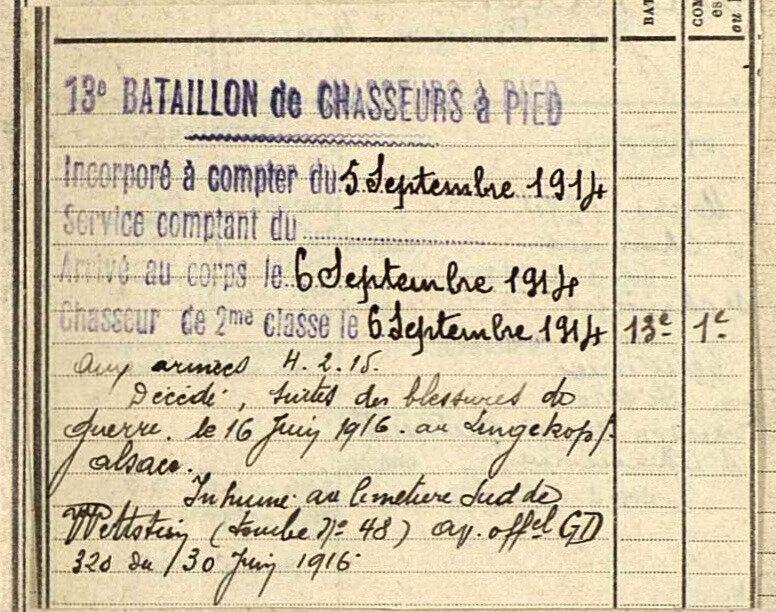 Jean Bertholon, fiche matricule (2)
