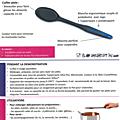 Fiche produit: cuillère plate ergonomique