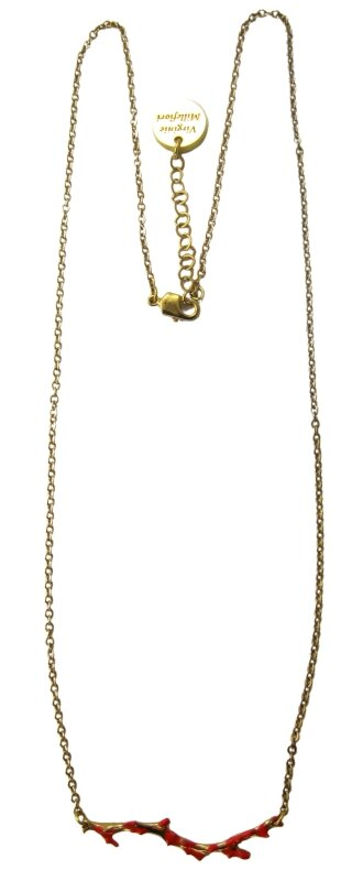 collier corail simple or