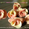 Tuto pour roses en pâte d'amande
