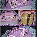 Gâteau sac violetta